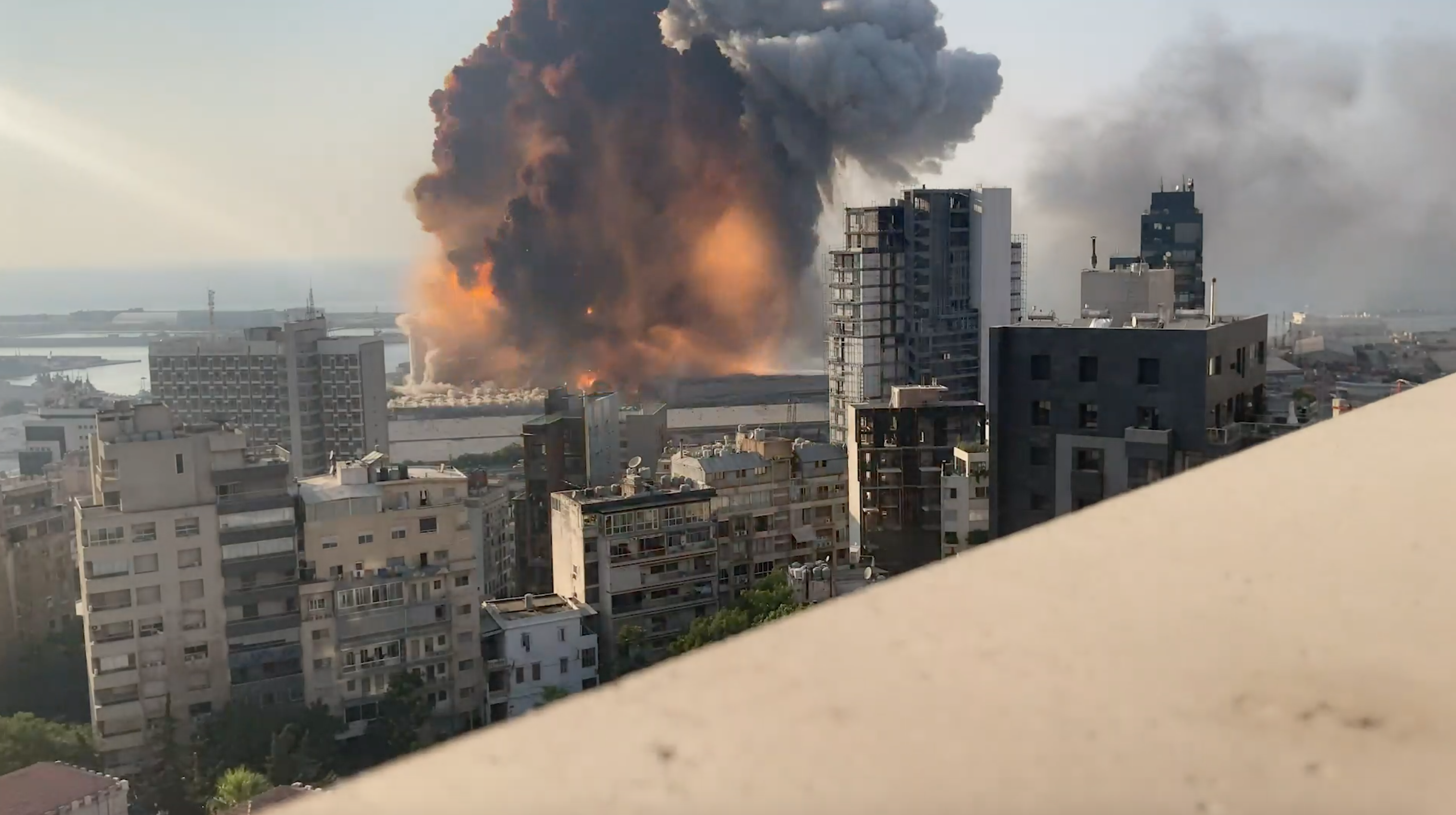 Beirut explosion: the shocking moments caught on video
